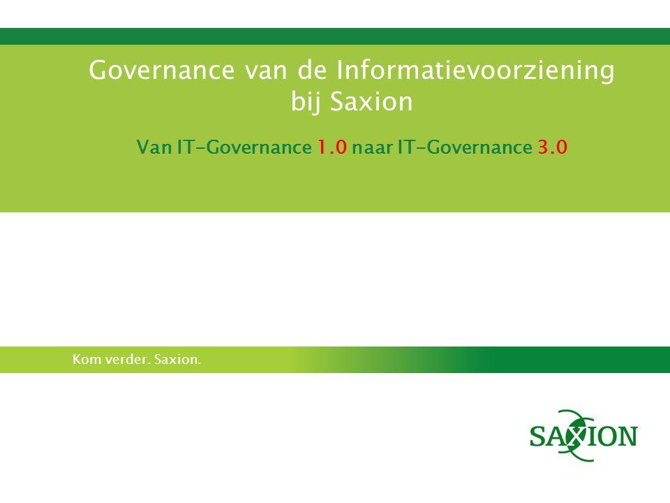 Governance van de Informatievoorziening bij Saxion