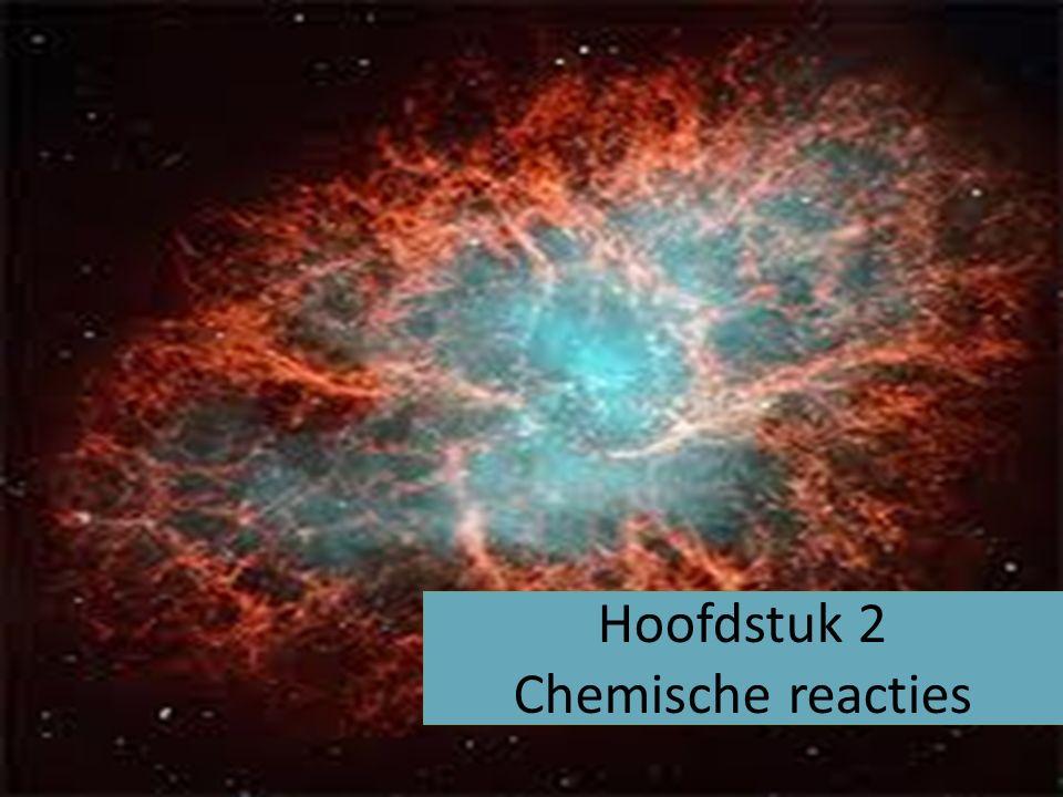 Hoofdstuk 2 Chemische reacties