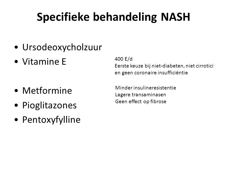 Specifieke behandeling NASH