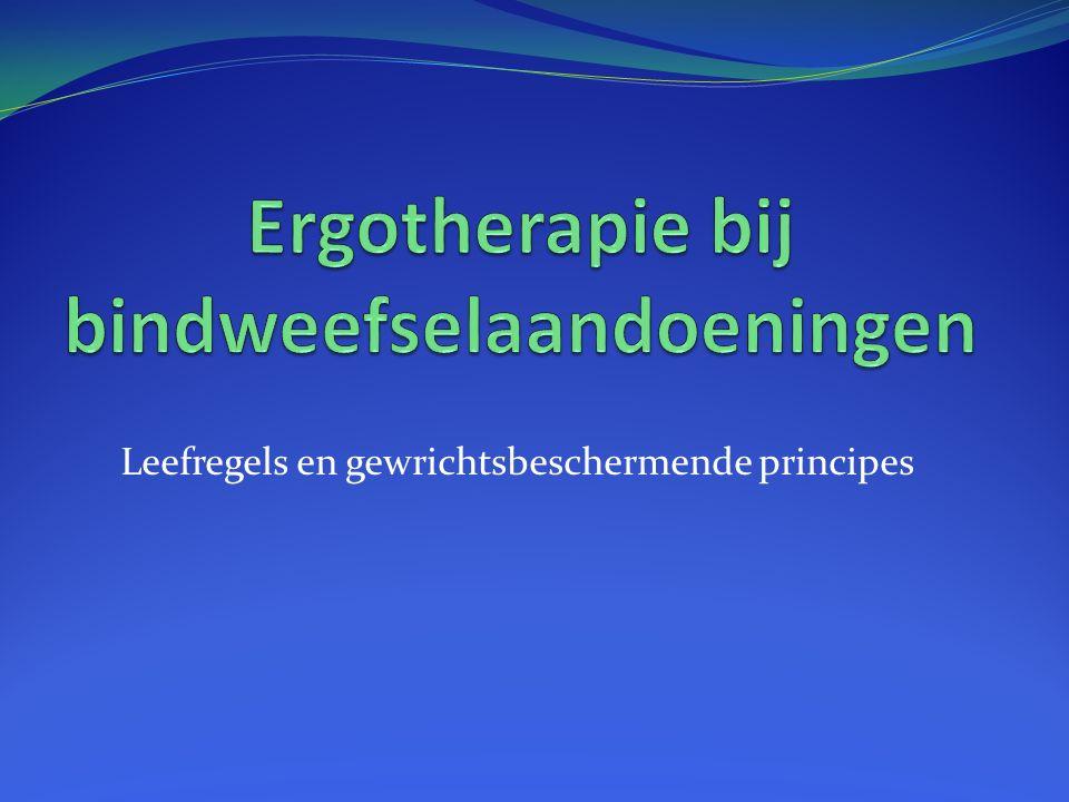 Ergotherapie bij bindweefselaandoeningen