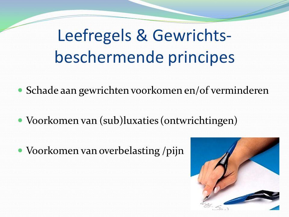 Leefregels & Gewrichts-beschermende principes