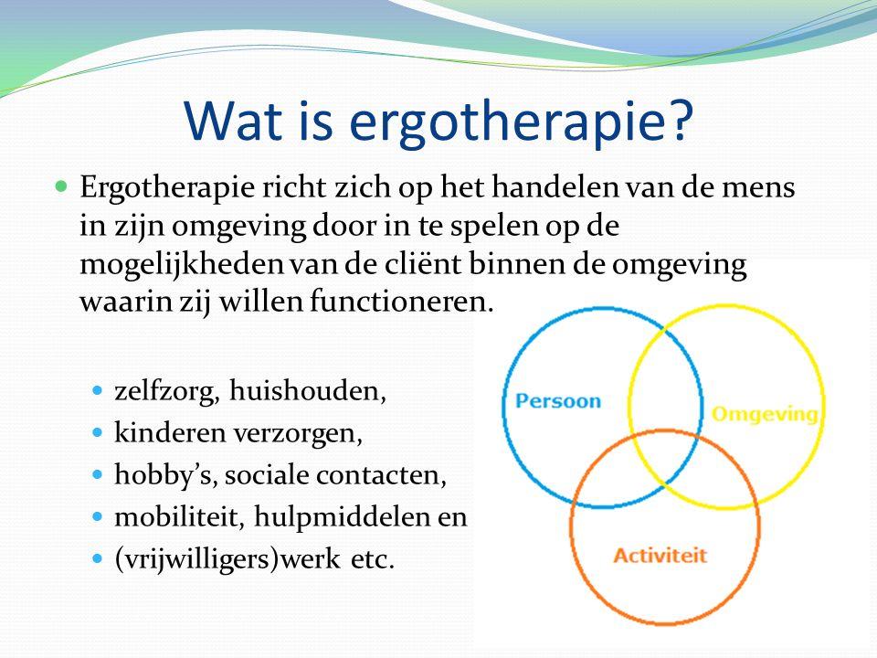 Wat is ergotherapie