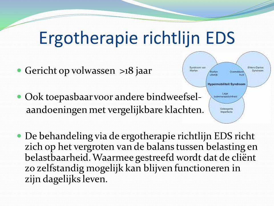 Ergotherapie richtlijn EDS