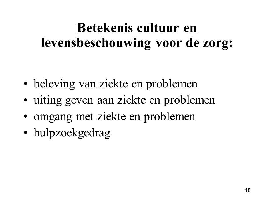 Betekenis cultuur en levensbeschouwing voor de zorg:
