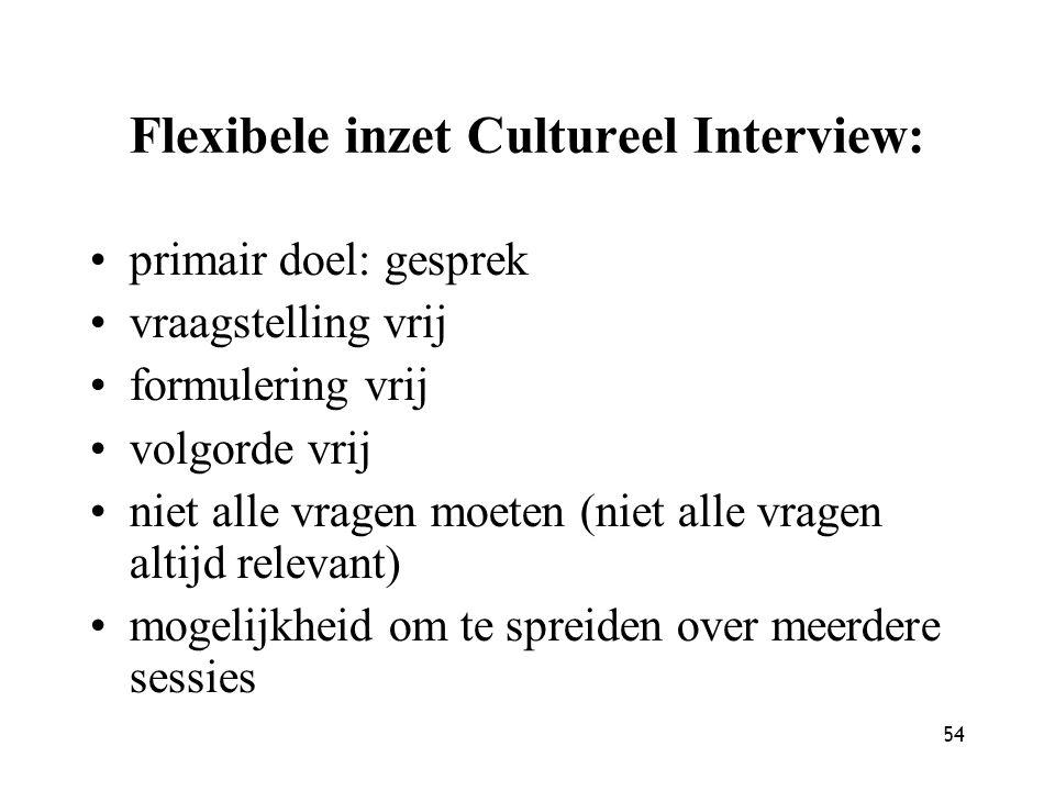 Flexibele inzet Cultureel Interview: