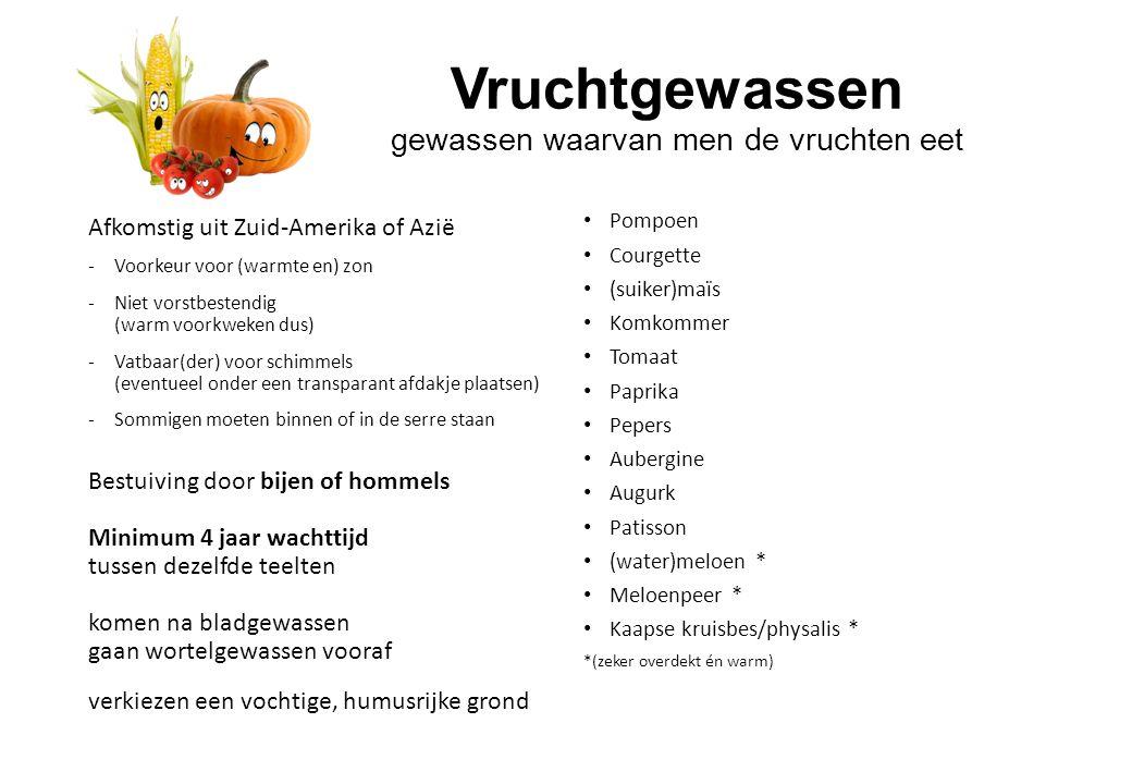 Vruchtgewassen gewassen waarvan men de vruchten eet