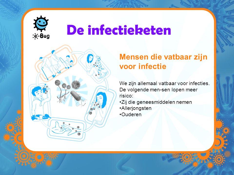 De infectieketen Mensen die vatbaar zijn voor infectie