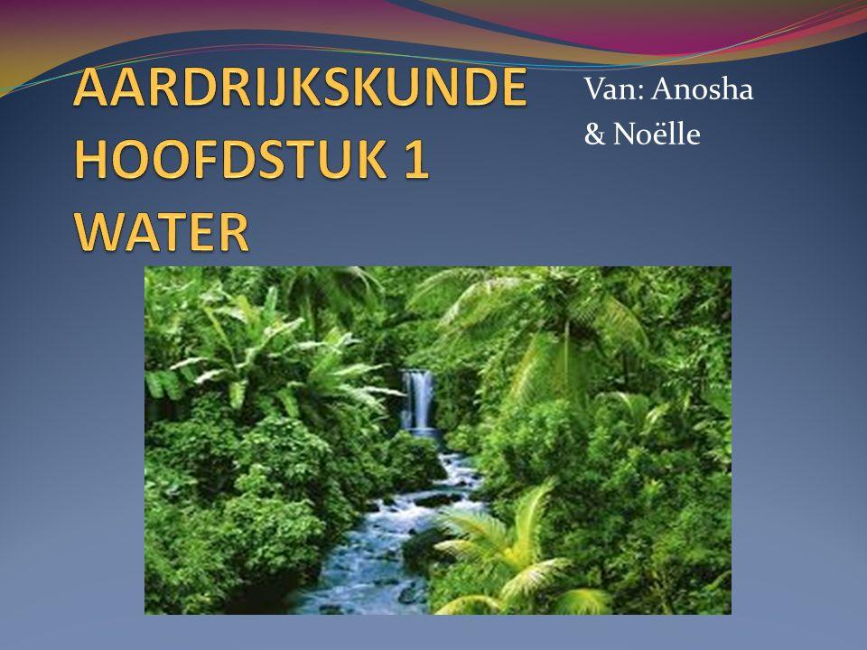 AARDRIJKSKUNDE HOOFDSTUK 1 WATER