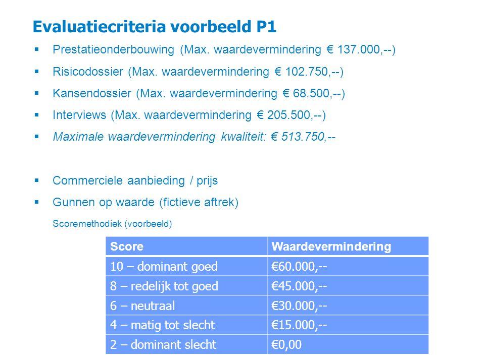 Evaluatiecriteria voorbeeld P1