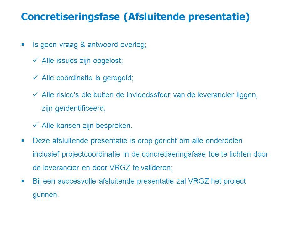 Concretiseringsfase (Afsluitende presentatie)