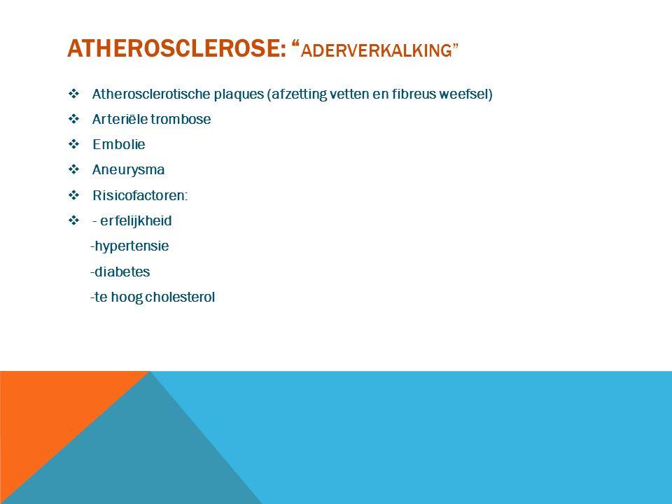 Atherosclerose: aderverkalking