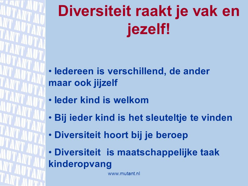Diversiteit raakt je vak en jezelf!