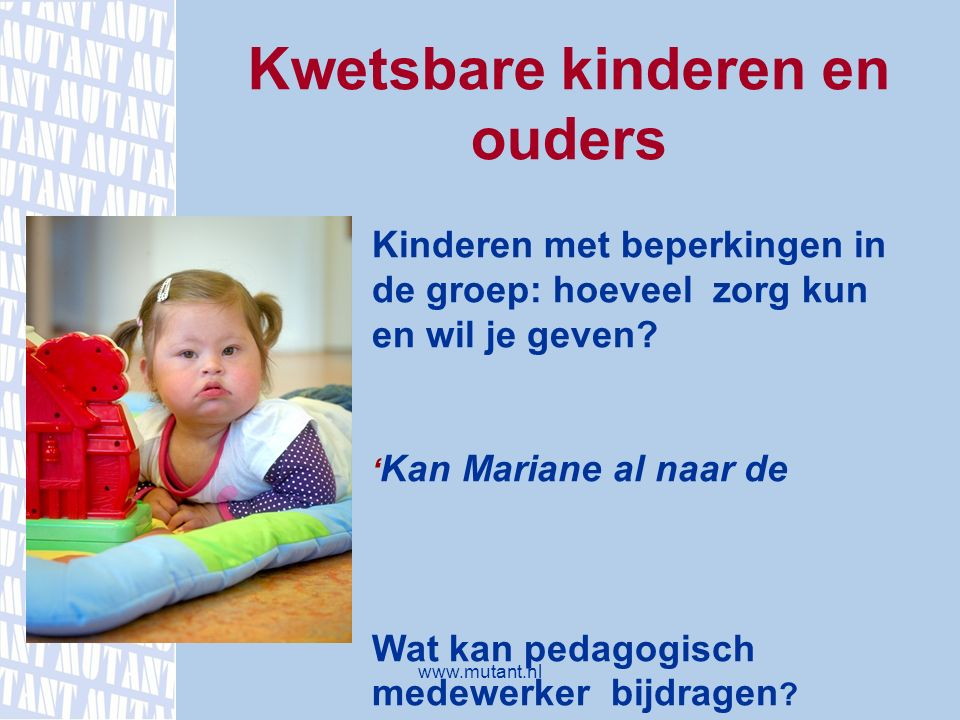 Kwetsbare kinderen en ouders