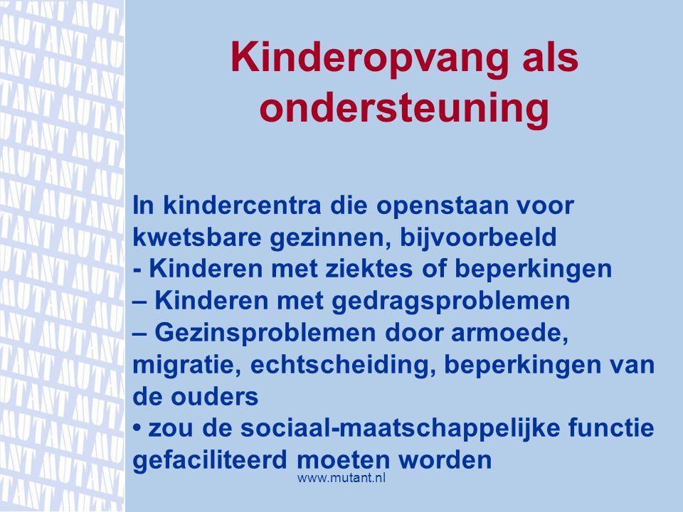 Kinderopvang als ondersteuning