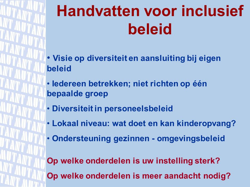 Handvatten voor inclusief beleid