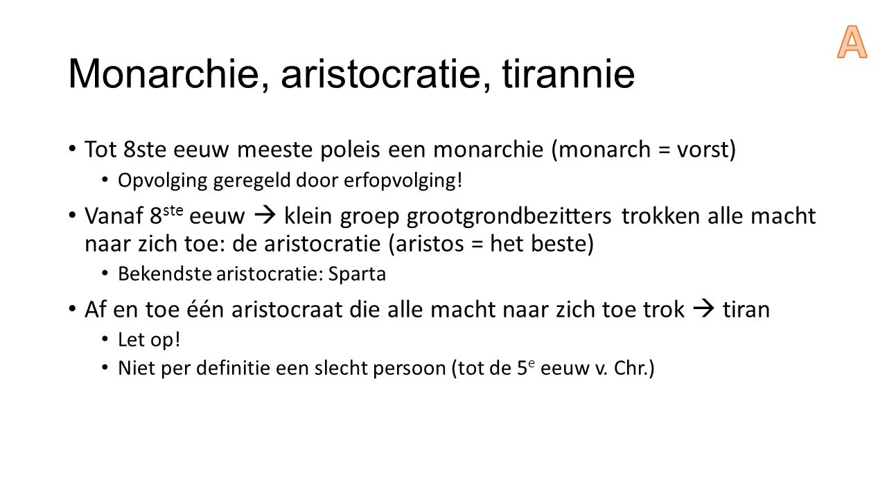 Monarchie, aristocratie, tirannie