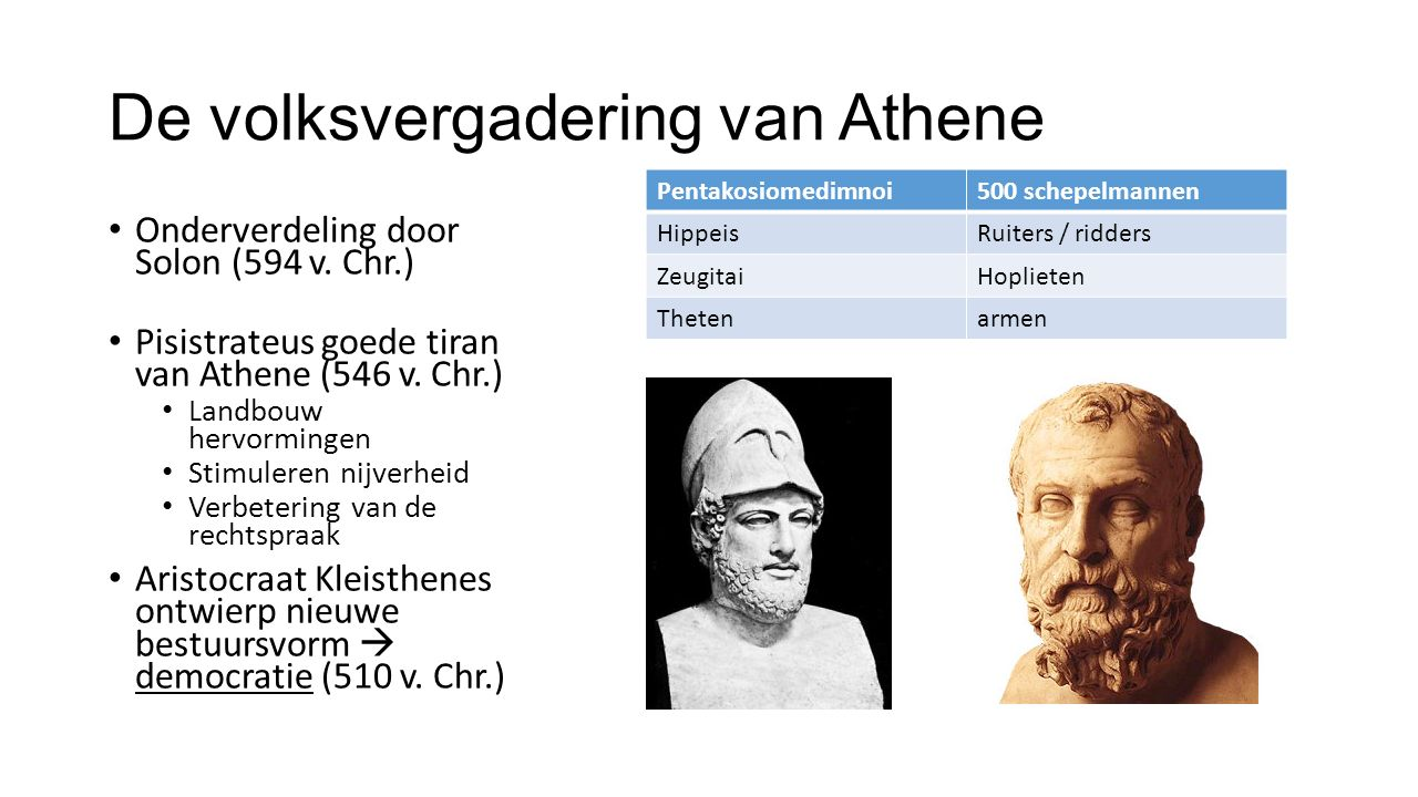 De volksvergadering van Athene