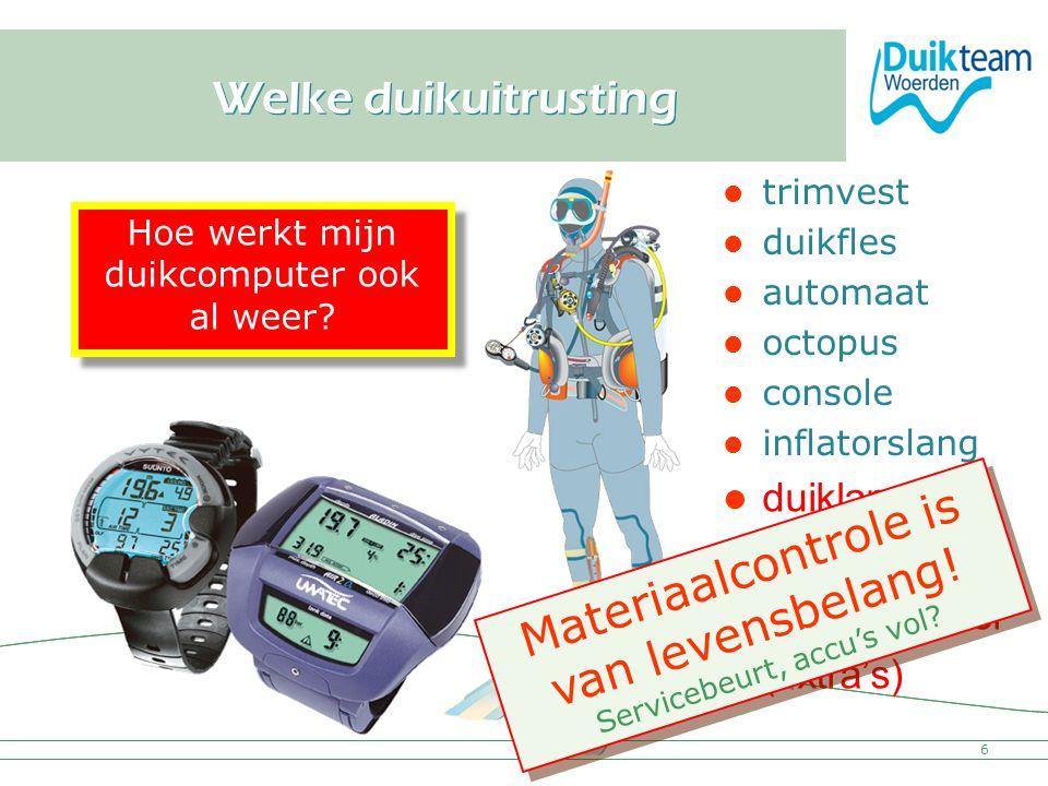 Materiaalcontrole is van levensbelang!