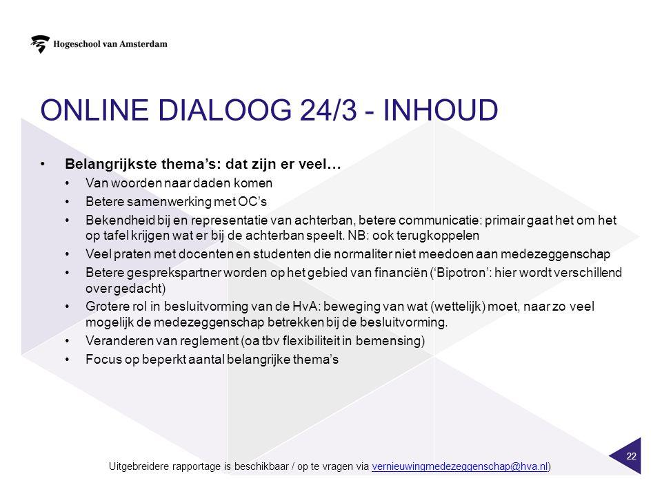 Online dialoog 24/3 - inhoud