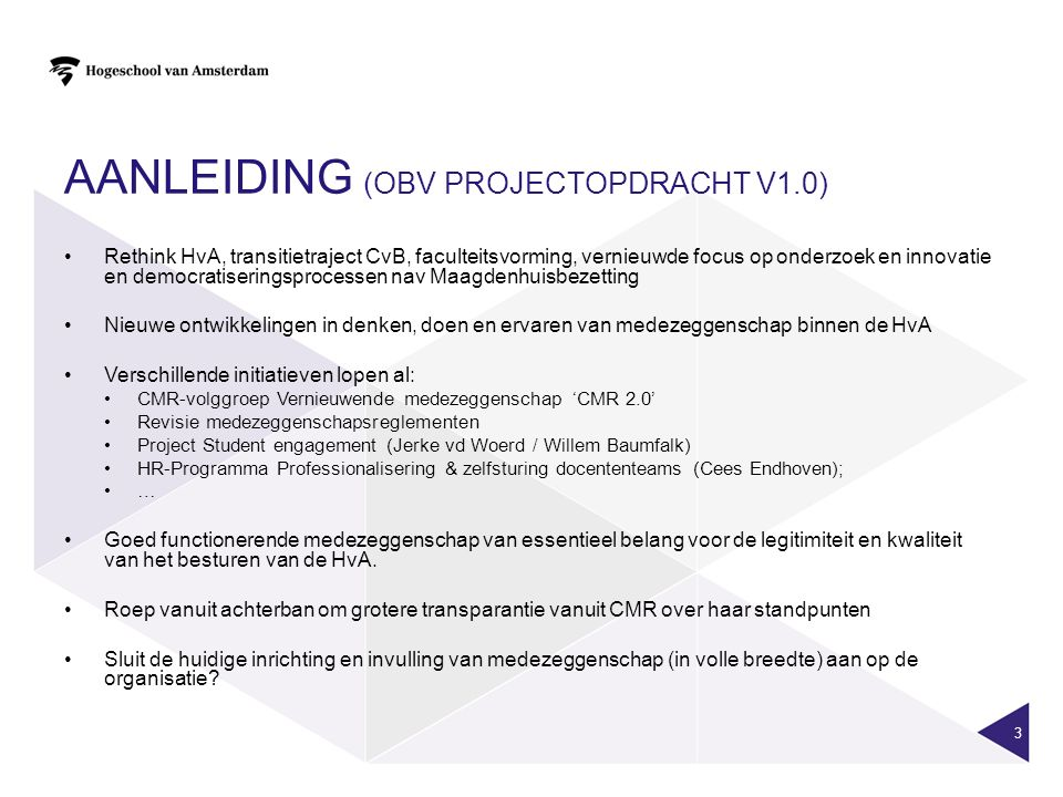 Aanleiding (obv projectopdracht v1.0)