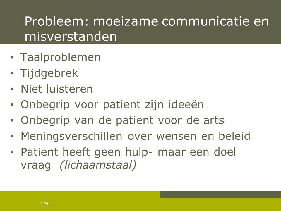 Probleem: moeizame communicatie en misverstanden
