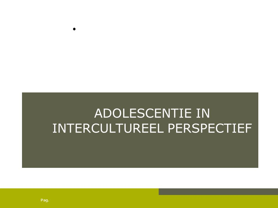 Adolescentie in intercultureel perspectief