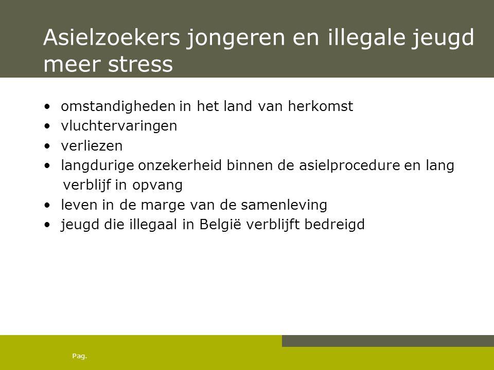 Asielzoekers jongeren en illegale jeugd meer stress