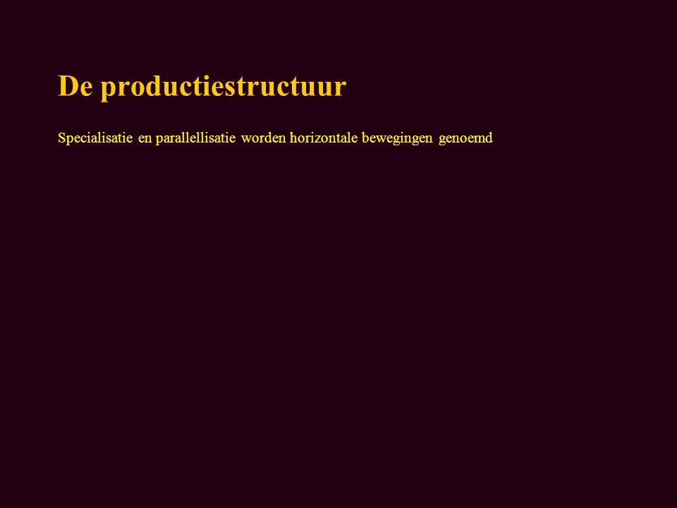 De productiestructuur