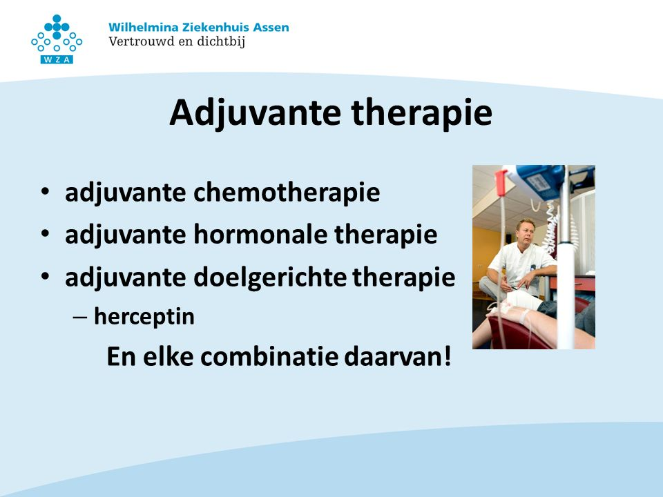Adjuvante therapie adjuvante chemotherapie