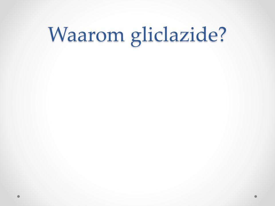 Waarom gliclazide