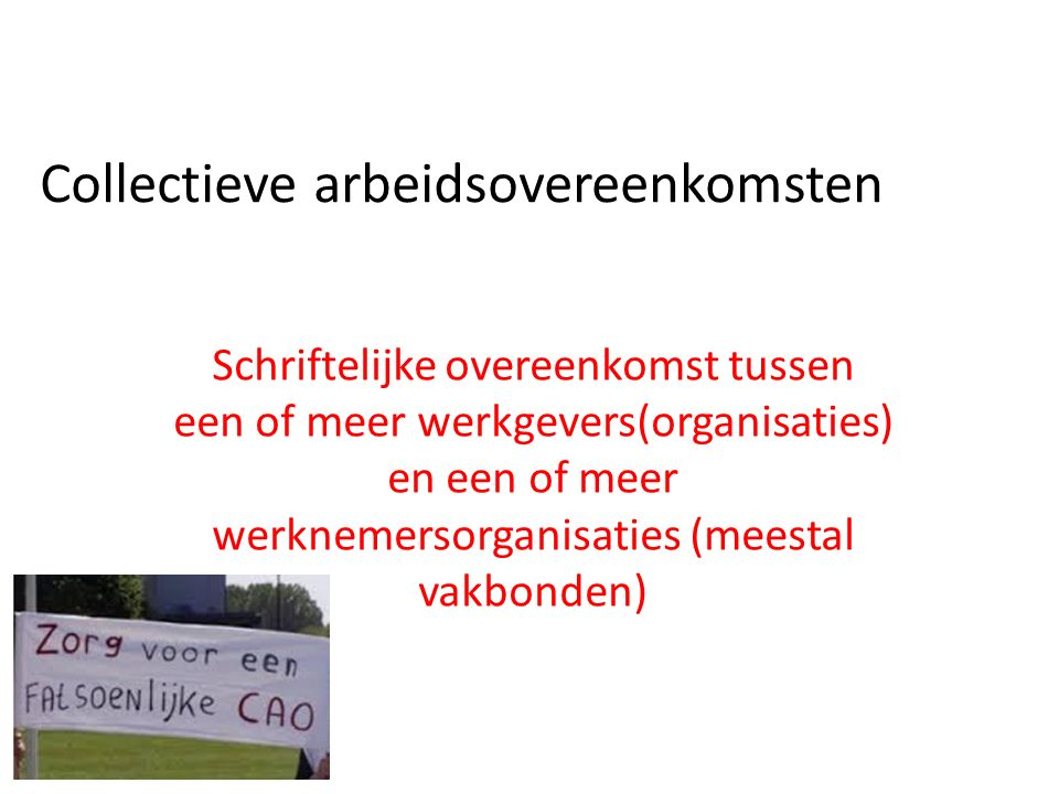 Collectieve arbeidsovereenkomsten