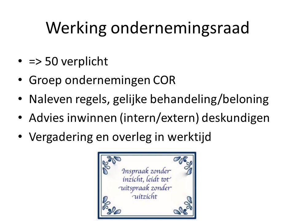 Werking ondernemingsraad