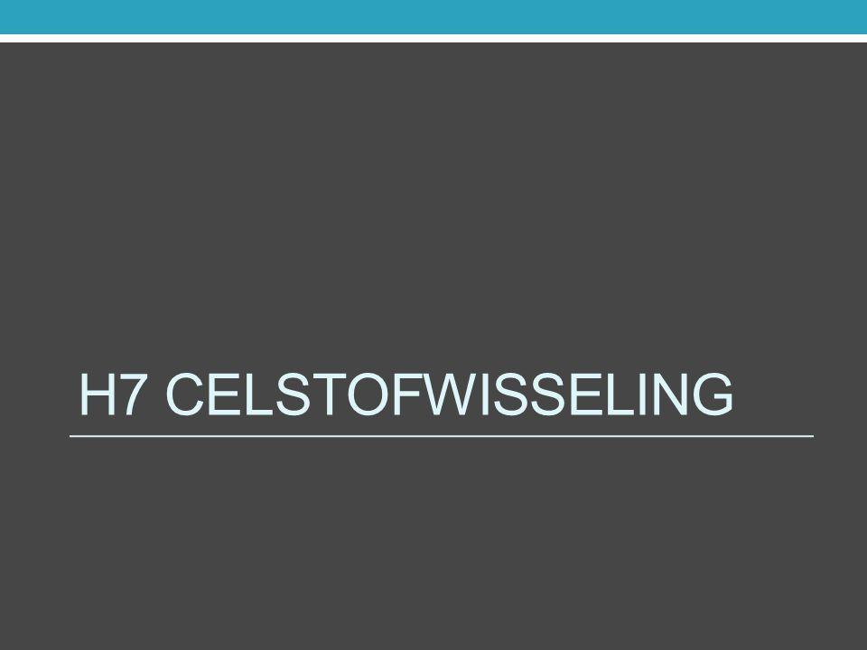 H7 Celstofwisseling
