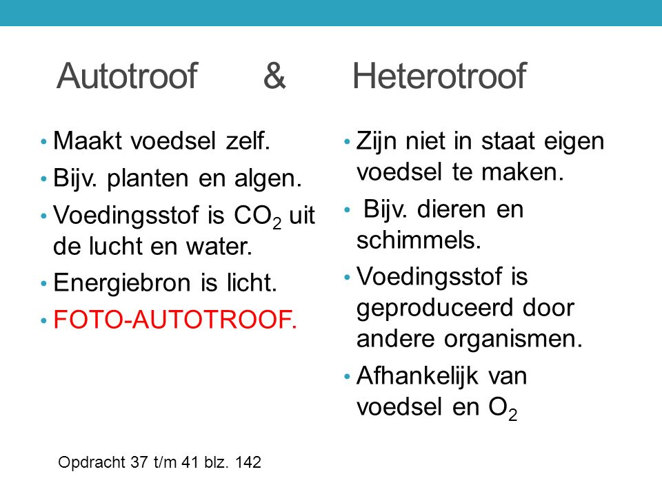 Autotroof & Heterotroof