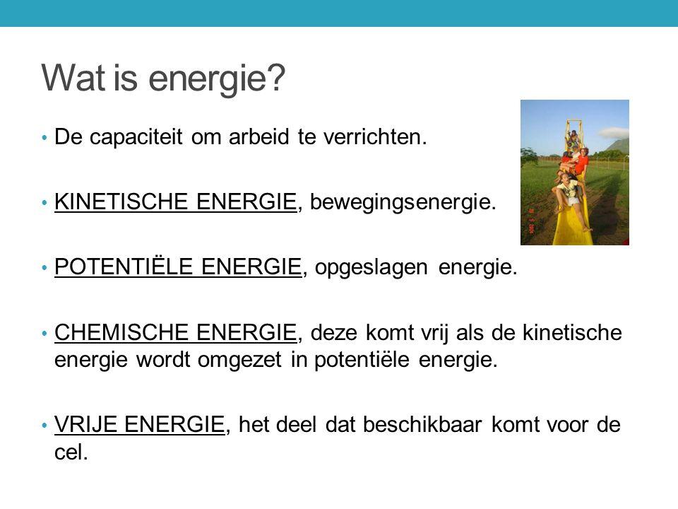 Wat is energie De capaciteit om arbeid te verrichten.