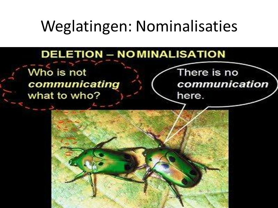 Weglatingen: Nominalisaties