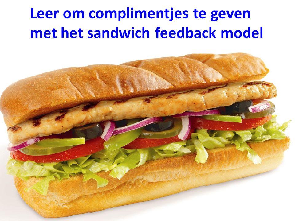 Leer om complimentjes te geven met het sandwich feedback model