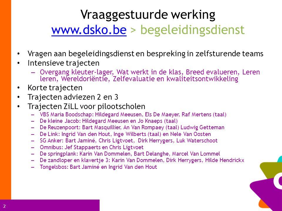 Vraaggestuurde werking www.dsko.be > begeleidingsdienst