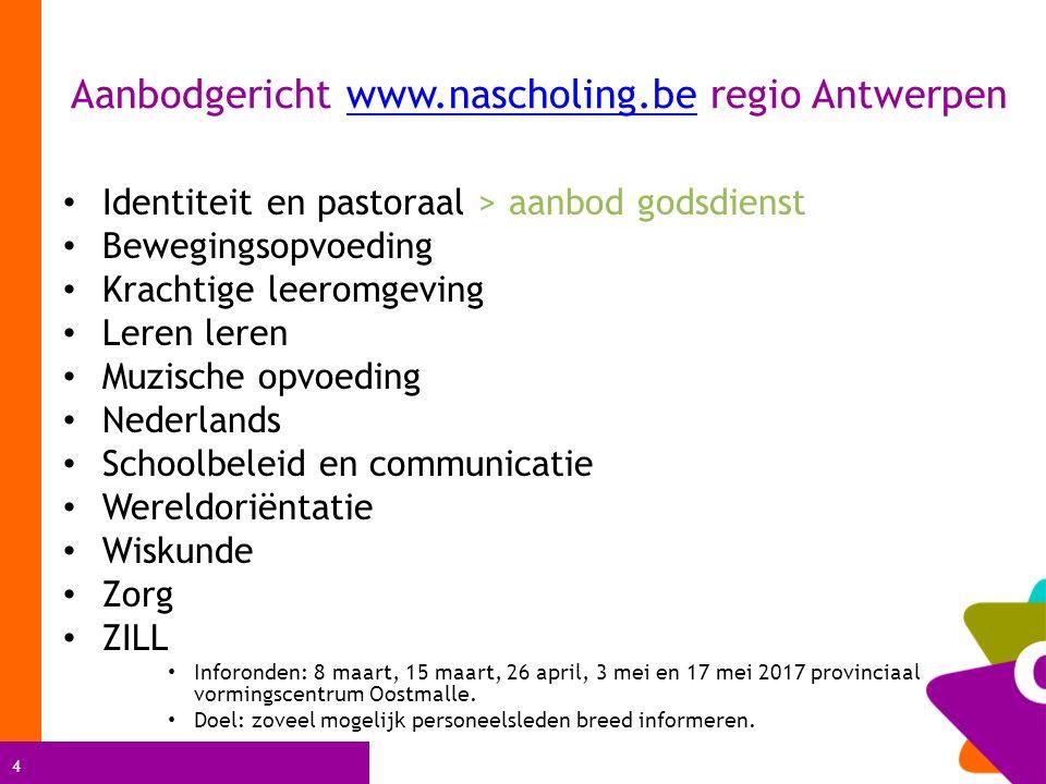 Aanbodgericht www.nascholing.be regio Antwerpen