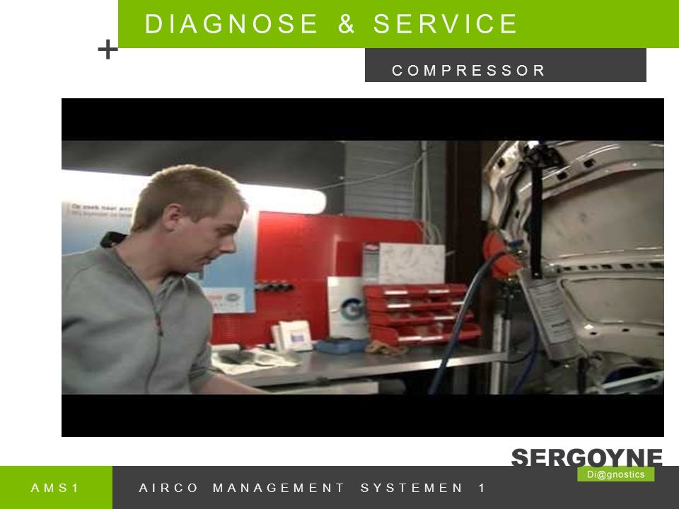 DIAGNOSE & SERVICE + COMPRESSOR AMS1 AIRCO MANAGEMENT SYSTEMEN 1