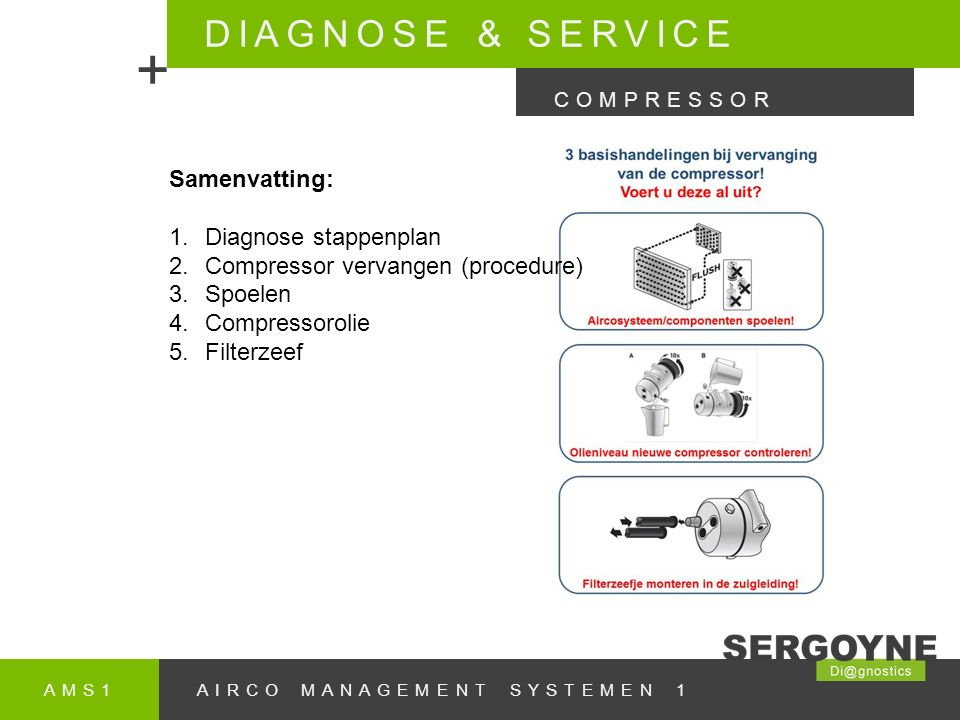 + DIAGNOSE & SERVICE Samenvatting: Diagnose stappenplan