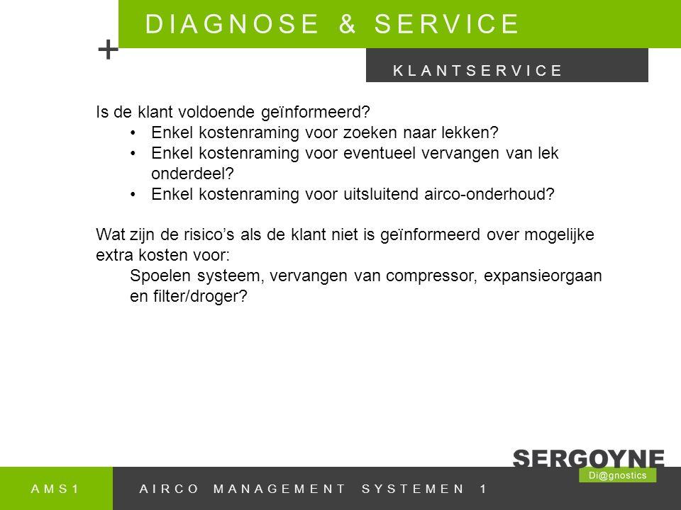 + DIAGNOSE & SERVICE Is de klant voldoende geïnformeerd