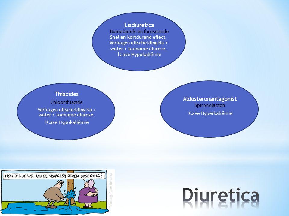 Diuretica Lisdiuretica Thiazides Aldosteronantagonist Spironolacton
