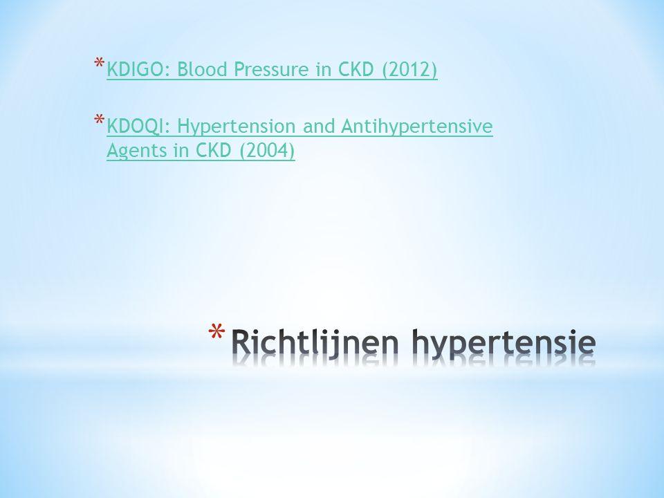 Richtlijnen hypertensie