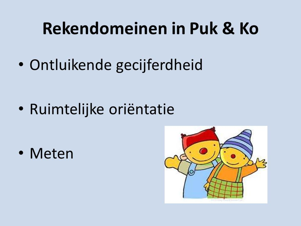 Rekendomeinen in Puk & Ko