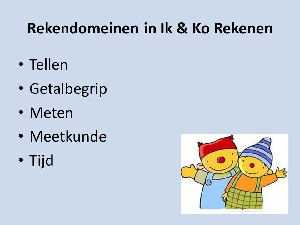 Rekendomeinen in Ik & Ko Rekenen