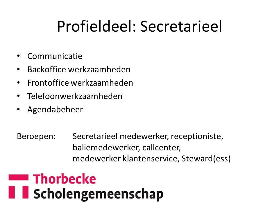 Profieldeel: Secretarieel
