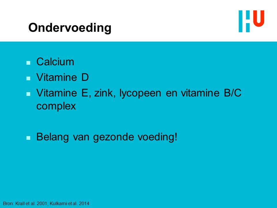 Ondervoeding Calcium Vitamine D