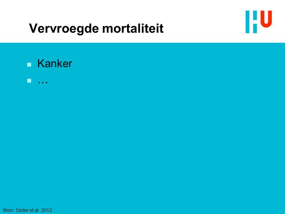 Vervroegde mortaliteit