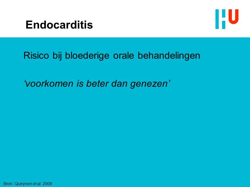 Endocarditis Risico bij bloederige orale behandelingen